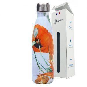 Gourde Isotherme Fleur Coquelicos Orange