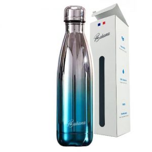 Gourde Isotherme Dégradé Chromé & Bleu